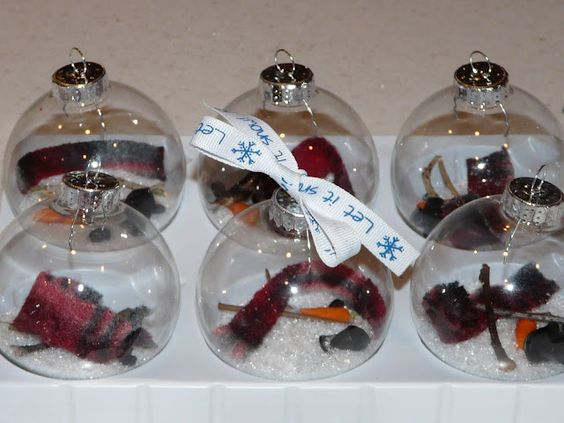 Clear ornaments too cute and party crafts on pinterest for Clear ornament snowman craft