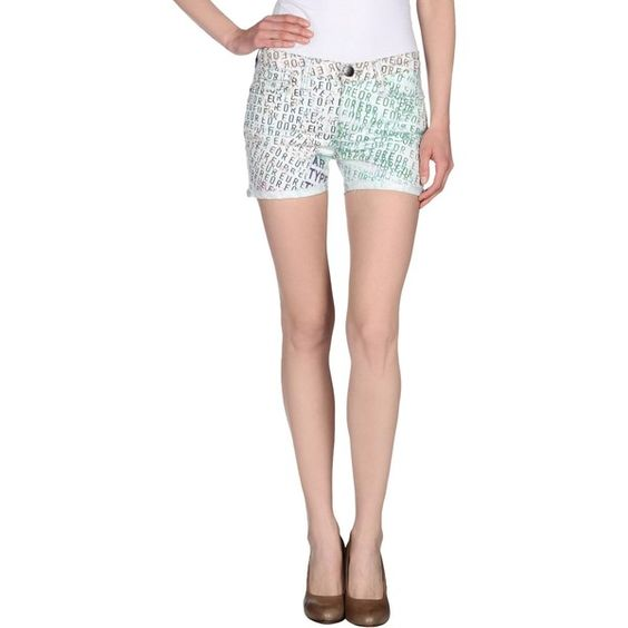Current/elliott + Mary Katrantzou Denim Shorts ($246) ❤ liked on Polyvore featuring shorts, sky blue, short jean shorts, studded jean shorts, denim short shorts, zipper shorts and stretch shorts
