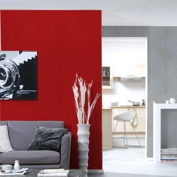 Sjour tendance 2murs vue 2 vue flippe 4 murs rouge for Peinture salon rouge brique