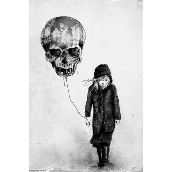 Enjoy the day the only way you know how. Artist unknown #art #skull #girl #enjoy…: