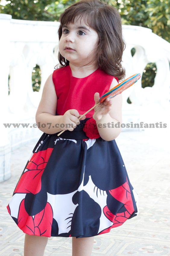 Vestido da Minnie Vermelha Baby | AnaGiovanna Vestidos Infantis | Elo7