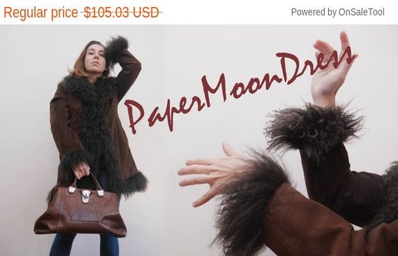 Penny Lane Afghan Coat Sheepskin Coat Vintage by PaperMoonDress