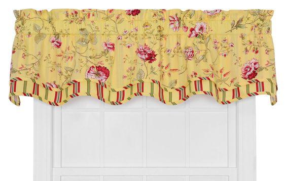 Coventry Medium Scale Floral Bradford Curtain Valance