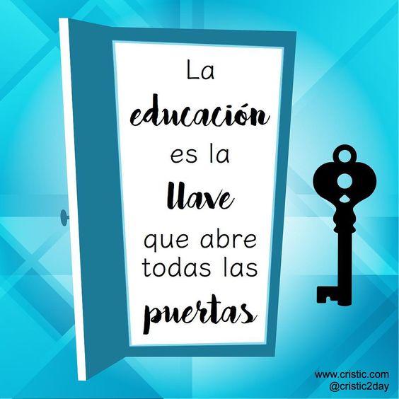 La educación es la llave que abre tosas las puertas  #educación #profesor #docente #instaquote #inteligenciaemocional: