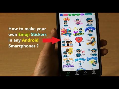 How To Make Your Own Emoji Stickers In Any Android Smartphones Youtube In 2020 Emoji Stickers Smartphone Make It Yourself