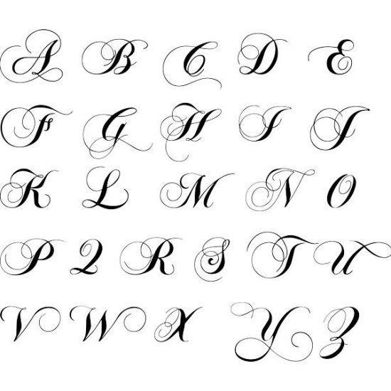 Moldes De Letras Cursivas Para Imprimir Abecedario En Letra Grande Hand Lettering Alphabet Tattoo Lettering Fonts Lettering Alphabet