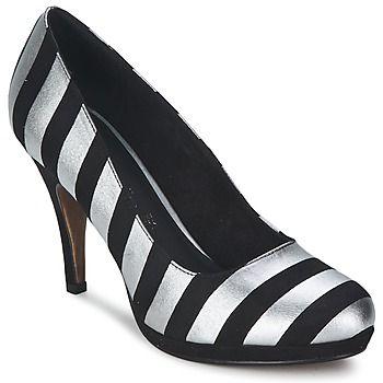 En la categoría zapato de tacón, Valui sabe como destacar. Este modelo resalta por su color de moda negro y su corte en textil. La marca prefiere utilizar un forro en textil y una plantilla en cuero.