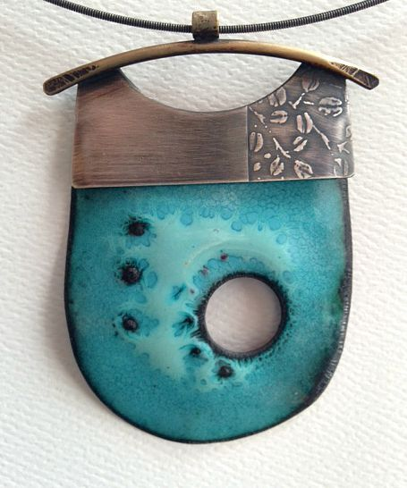 Blue Lake neckpiece by Patti Wells, 2015