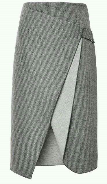 Uma forma de fazer a saia reta com um detalhe a mais. Este modelo foi desenhado pelo estilista Dion Lee. Segue esquema de modelagem do 36 ao 56.: