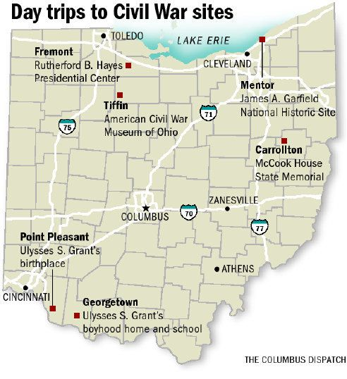sites to visit in ohio for civil war history buffs
