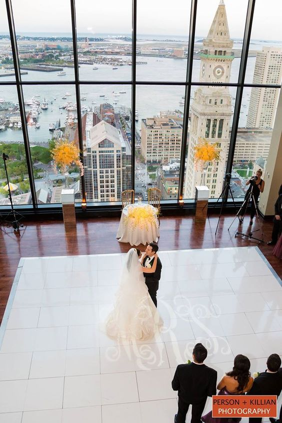 Boston Wedding Photography, Boston Event Photography, InterContinental Boston, The State Room Boston Wedding, Nelse Karini Makeup Artistry,Peter Langner Couture From L'elite Bridal, Happy Couple,First Dance,  Person + Killian Photography