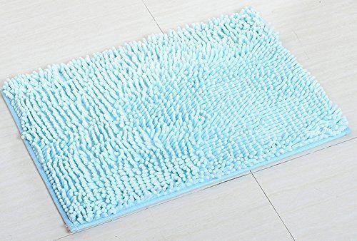Yj Bear Chenille Rectangle Anti Slip Microfiber Doormat Solid
