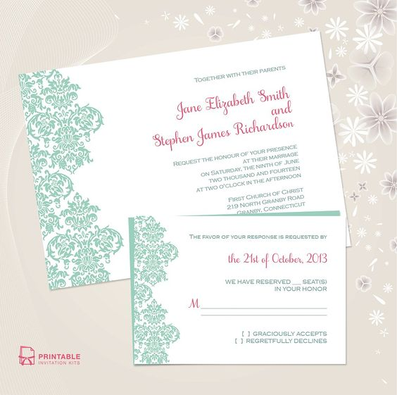 free wedding invitation kits printable wedding invitations invitations