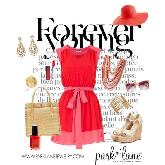 Forever Young, created by parklanejewelry on Polyvore  Park Lane Jewelry featured: St. Tropez necklace, Santorini earrings, Flair bracelet & Roma ring