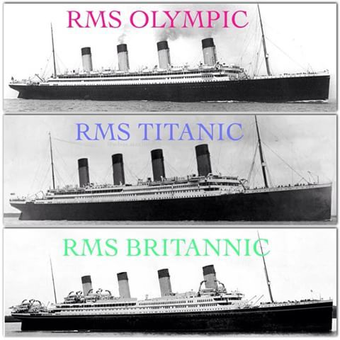 The majestic White Star Trio of Olympic Class Liners! ☆