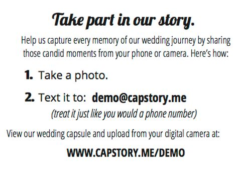 Capstory allows your guest's at your event to take photos and text message them to a live streaming photo capsule which is displayed on a large screen. Forget slideshows and use Capstory for instant photo streaming from your guest's hands. In these moments, one lens is not enough.