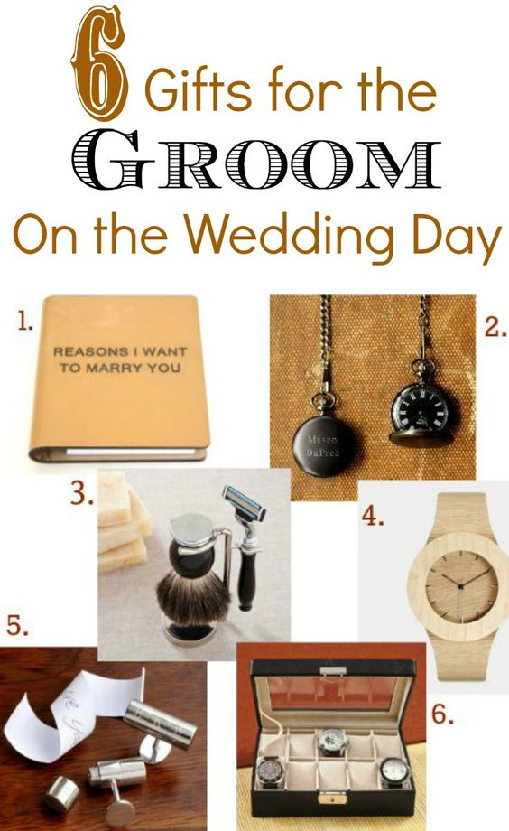 Gifts for the bride the groom and wedding day on pinterest for Gift from bride to groom on wedding day