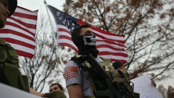 3 April 16 US Islamophobic mosque protest shut down by armed worshipers