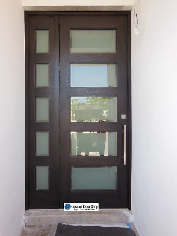 Images Of Glass Double Front Doors For Homes   ... Glass Contemporary Doors  :: Frosted Glass Rectangles Exterior Doors   Architecture   Pinterest ...