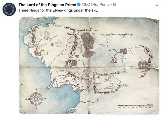 Maps of Lord of the Rings series