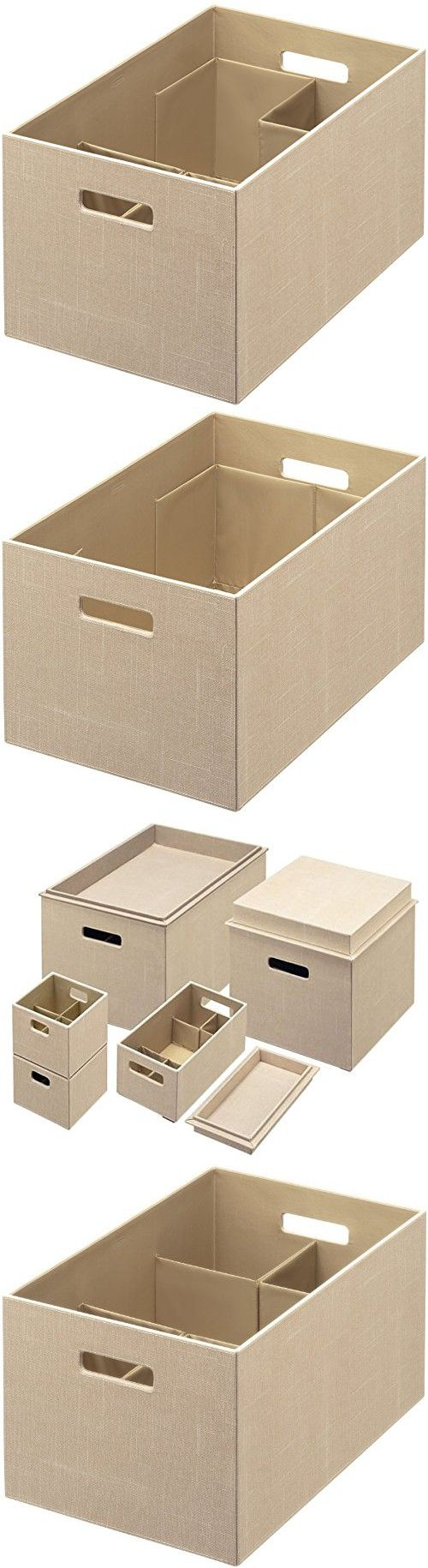 Extra large cardboard storage boxes - Rubbermaid Bento Storage Box With Flex Dividers Extra Large Loose Linen 1791949