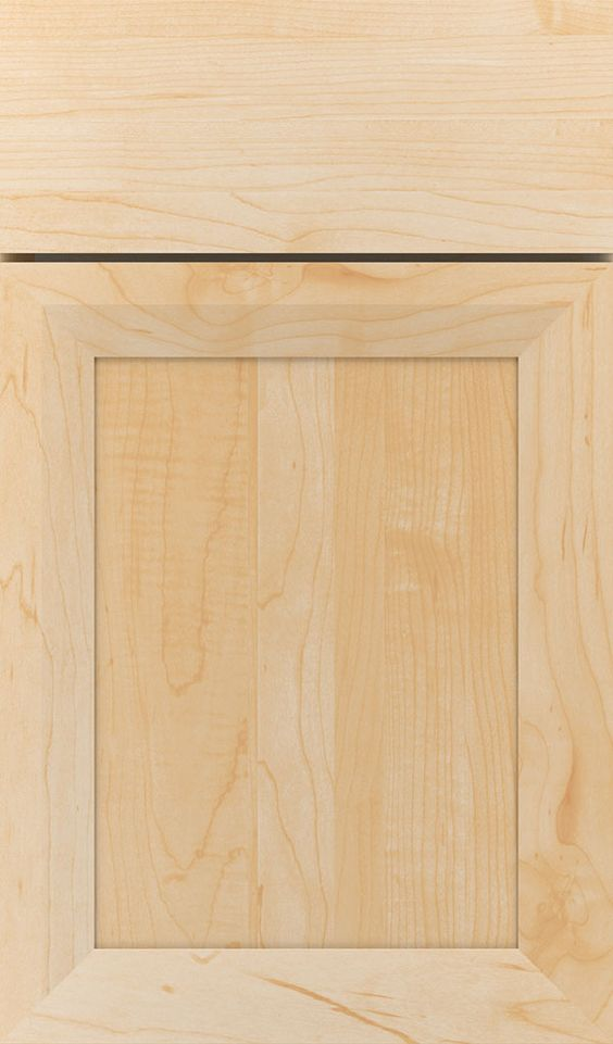 The Modesto recessed panel cabinet door has a thinner profile that creates a clean, current look, offered in various wood types and finishes from Decora.