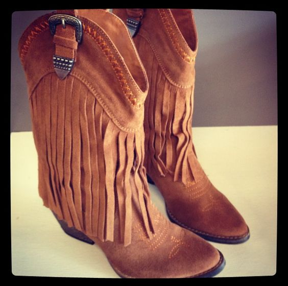 Fringe Cowgirl Boots ~ Available at www.ShopHoityToity.com