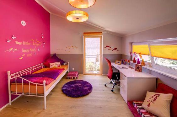 Mädchenzimmer in Pink und Lila Teppich von Licht-Design Skapetze GmbH & Co. KG aus dem Musterhaus Mannheim 159.