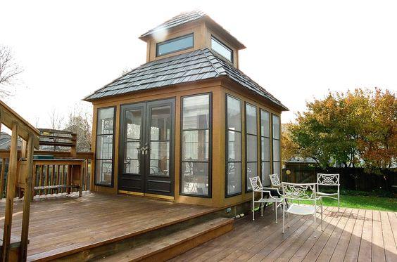 Charming Gazebo This Detached 3 Season Room Is Perfect For Family Gatherings Architecture Gazebo Cabin Gazebo Backyard Gazebo Gazebo On Deck