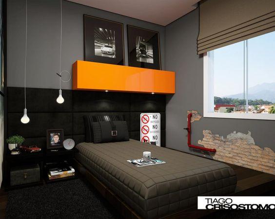 Quartos, Room decor and Yellow on Pinterest ~ Quarto Solteiro Compacto