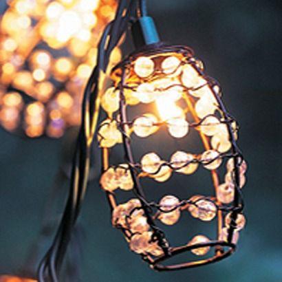 10ct decorative string lights iridescent tear drop plastic cover threshold lighting string. Black Bedroom Furniture Sets. Home Design Ideas