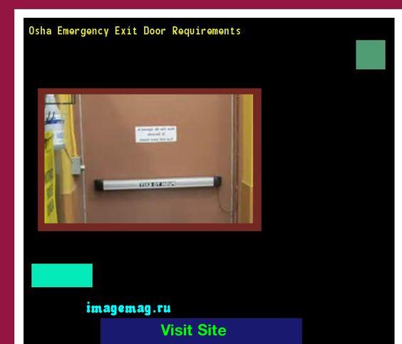 Osha Emergency Exit Door Requirements 082608 - The Best Image Search  sc 1 st  Pinterest & Osha Emergency Exit Door Requirements 082608 - The Best Image Search ...