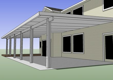 Free do it yourself wood projects how to build a wood for Patio cover construction plans