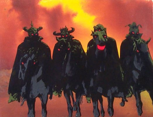 The Nazgul as seen in the Ralph Bakshi version of The Lord of the Rings