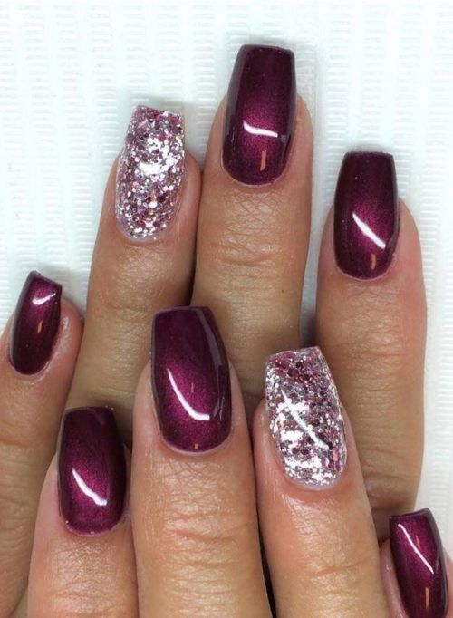 30 Gorgeous Burgundy Nail Color With Designs Follow Lifestyle In 2020 Maroon Nails Burgundy Nails Nail Colors