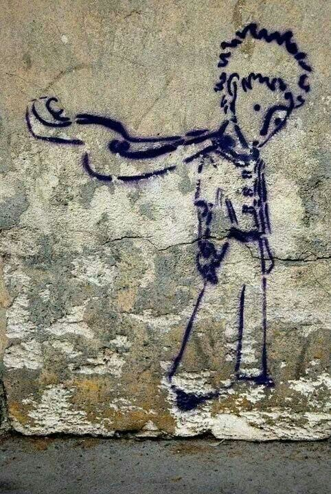 "street art ""The Little Prince"":"