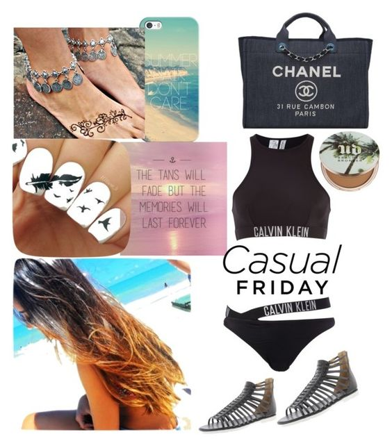 """"" by lunavillasenor89 ❤ liked on Polyvore featuring Urban Decay, Calvin Klein, Casetify and Chanel"