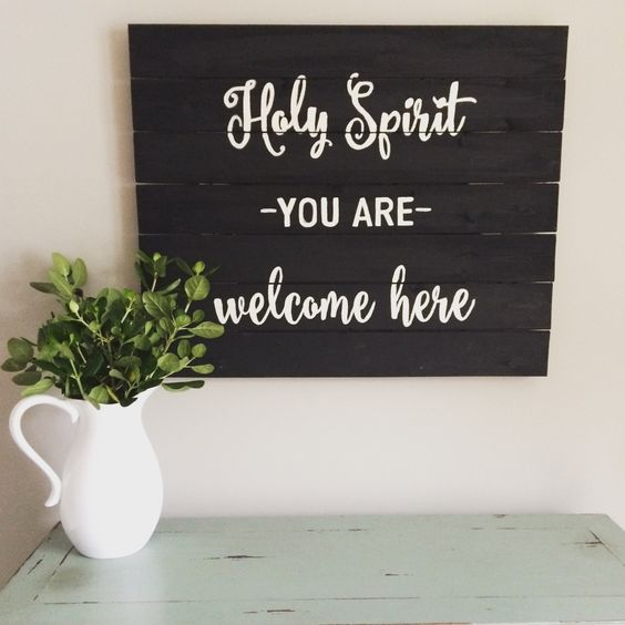 Hand Painted Wooden Sign Pallet Art: Holy by HeartwoodCreativeCo