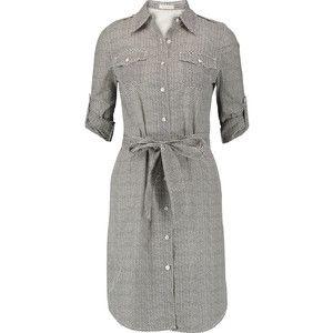 Tory Burch Brigitte zigzag cotton shirt dress