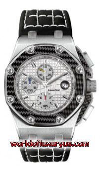 26030I0.OO.D001IN.01 - LIMITED EDITION 1000 pieces Audemars Piguet Royal Oak Offshore Juan Pablo Montoya watch, rugged titanium case (45mm diameter) with octagon shaped bezel, stitched leather strap with hidden titanium folding clasp, white dial with luminous hour markers and hands and chronograph functions. - See more at: http://www.worldofluxuryus.com/watches/Audemars-Piguet/Discontinued-Models/26030IO.OO.D001IN.01/62_785_4076.php#sthash.N9cs2abQ.dpuf