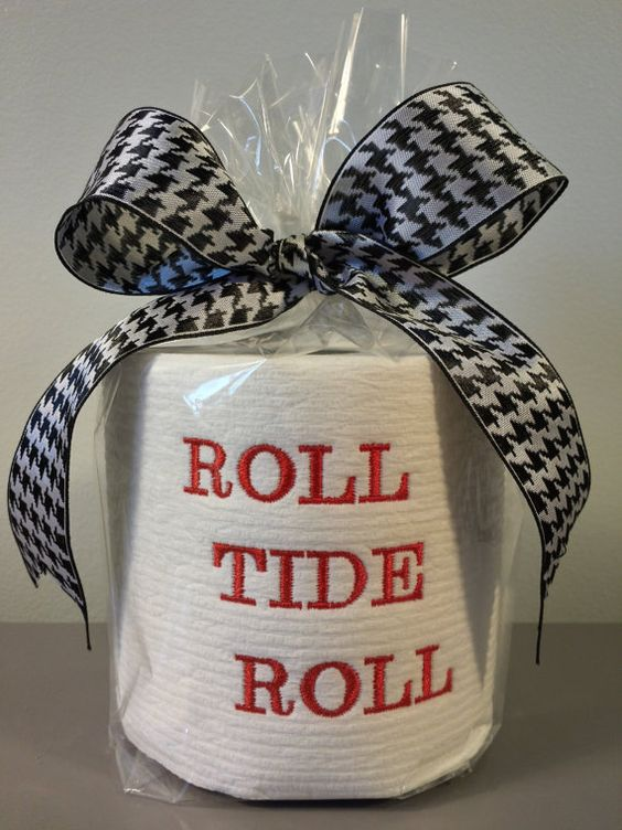 Embroidered Toilet Paper Roll Tide Roll Alabama Football