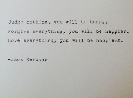 Vintage typewriter notecard- Jack Kerouac quote on Etsy, $5.00