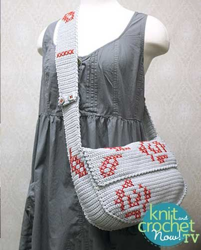 Knitting Pattern Messenger Bag : Seasons, TVs and Bags on Pinterest