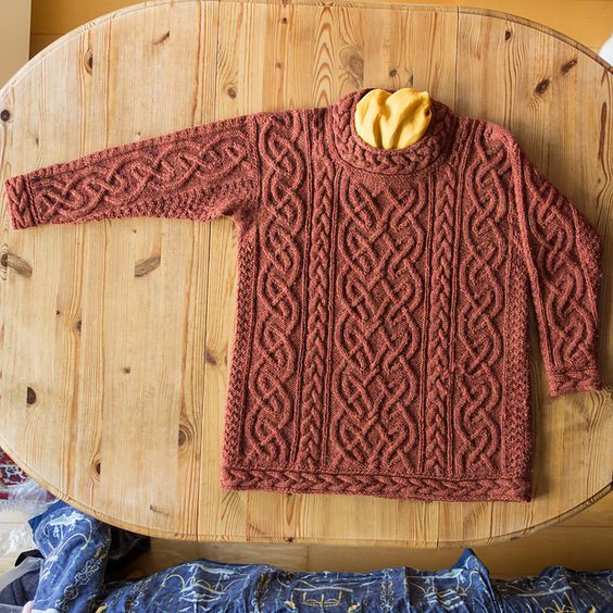 Ravelry: irisknittings St. Brigid for Iris ...  designer, Alice Starmore from Aran Knitting... wow, and wow again, i have this book