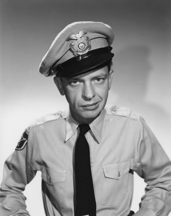 """Don Knotts brilliant as the beloved Barney Fife. """"Nip it, well you ..."""