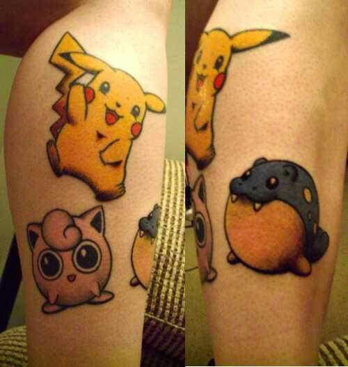 Pikachu, Jigglypuff, Spheal