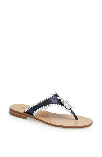 Jack Rogers 'Alana' Leather Thong Sandal available at #Nordstrom