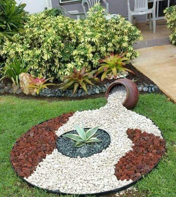 79 Ideas Favoritas De Bricolaje Para Decorar Su Jardin De Forma Unica Profhomedecor Bri Jardin Con Piedras Diseno De Jardin Piedras Decorativas