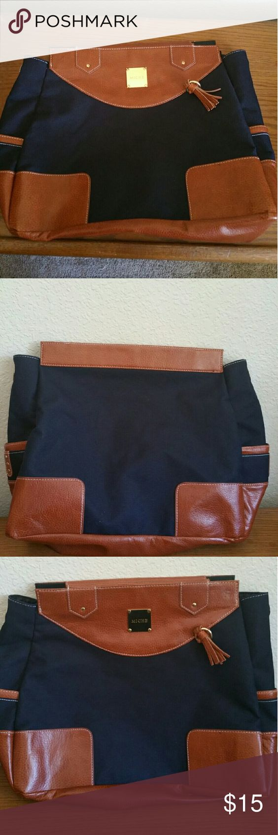 Miche Prima purse- shell only!! Black and brown Miche shell. Does not include the base and straps.. Used once. Very clean and great shape. Bags Totes