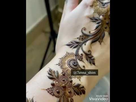 نقش حناء المبدعه شيمى Youtube Henna Hand Tattoo Hand Henna Tribal Tattoos